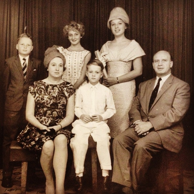 O'Connell clan, late 50s / early 60s, Hong Kong. Dad far left.  #TBT #Family #Roots